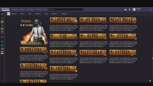 PUBG OBS Overlay + Twitch panels – SET3-PUBG