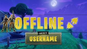 Twitch Fortnite panels and Offline image